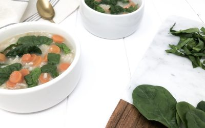 Instant Pot Vegetable Rice and Lemon Soup
