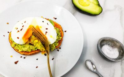 Poached Egg With Avocado and Sweet Potato Toast